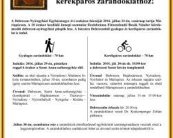 Gyalogos és kerékpáros zarándoklat Máriapócsra – július 29. (gyalog) 30. (kerékpár)